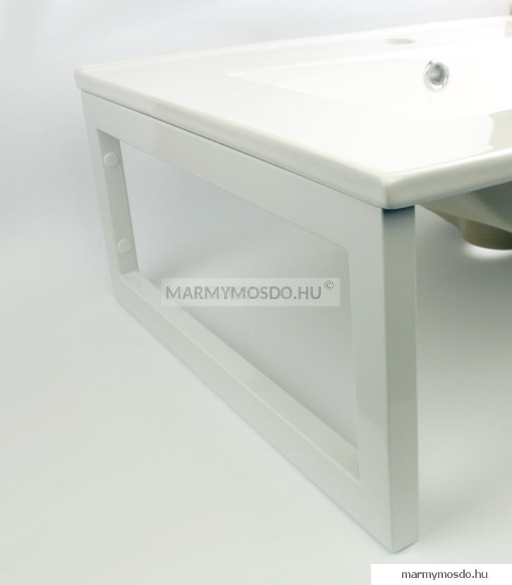 MS Fehér rozsdamentes mosdó, pult tartó konzol
