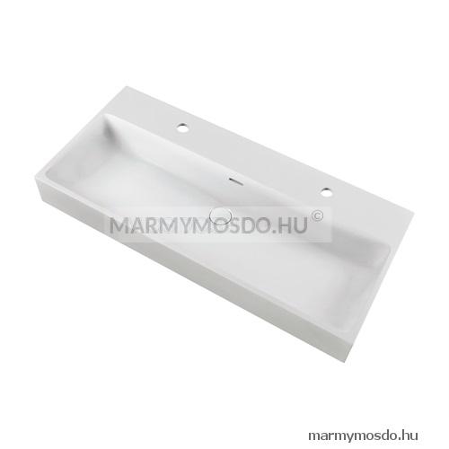 Marmy Bellagio 100 (2 csaplyuk) szögletes beépíthető mosdó