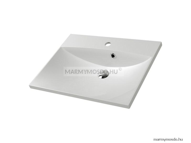 Marmy  Carmen 60 szögletes beépíthető mosdó