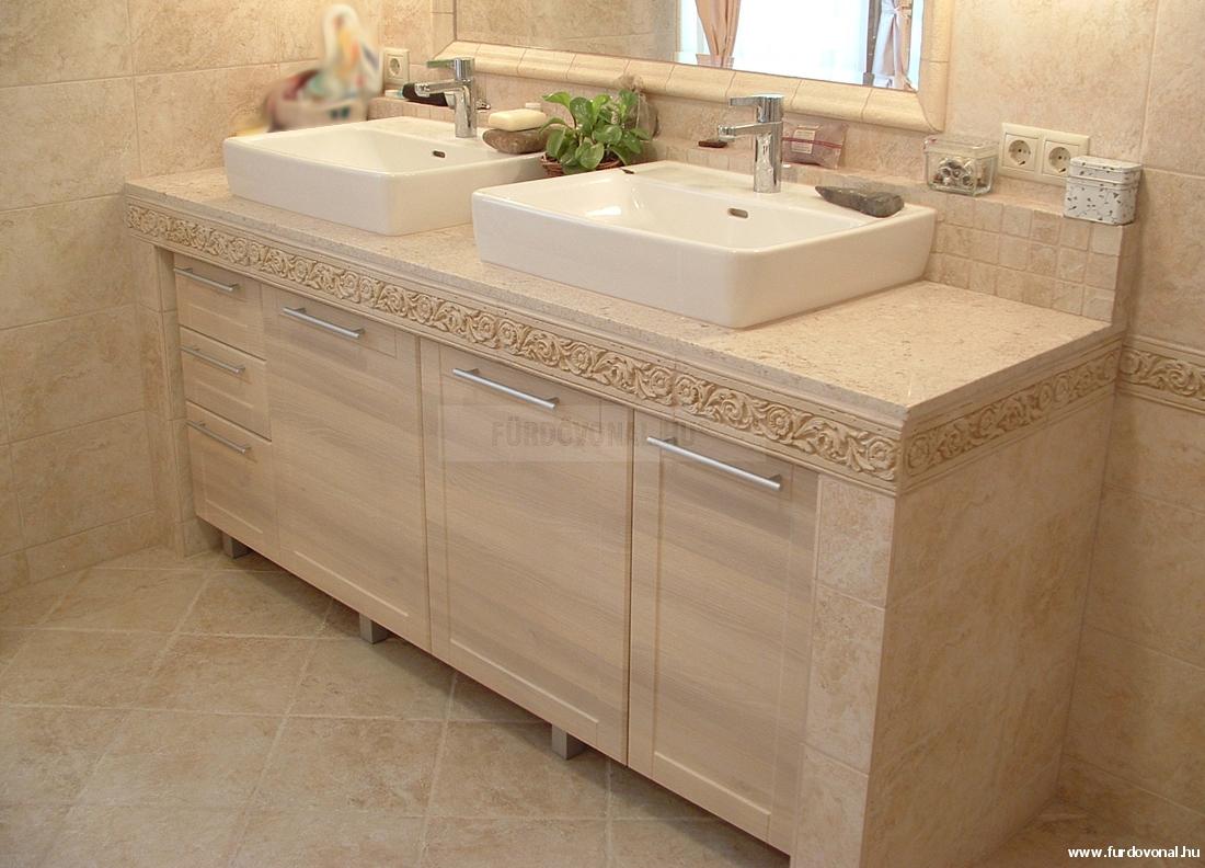 Pultra épített mosdótál