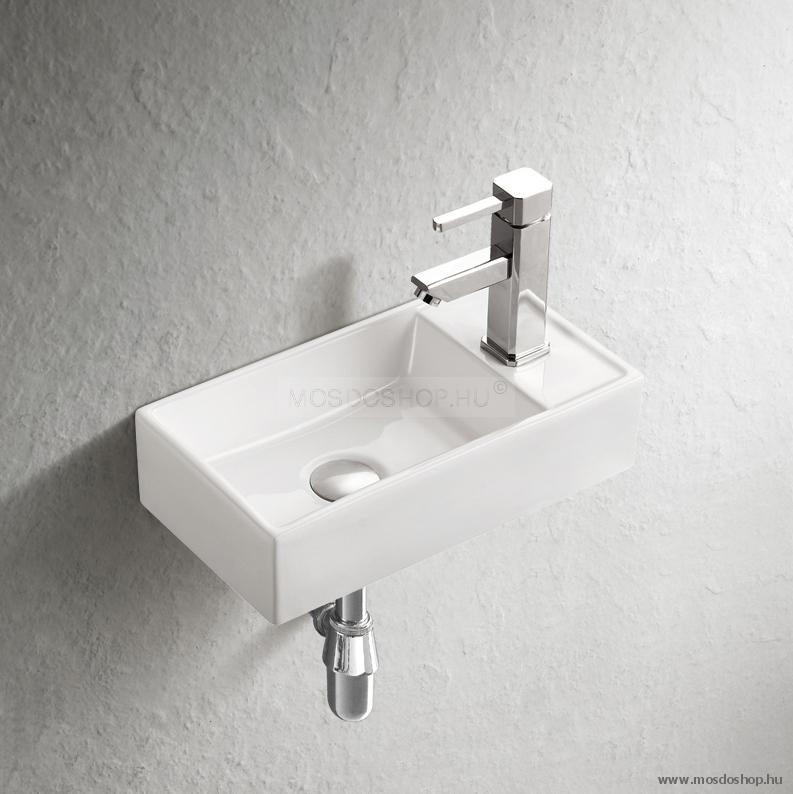 Arezzo Design - Austin kis kézmosó kerámia mosdókagyló (jobbos)