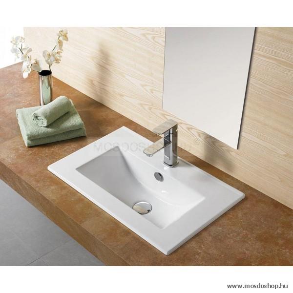 Arezzo Design - Medford mosdó 60 x 39 cm beépíthető kerámia mosdókagyló