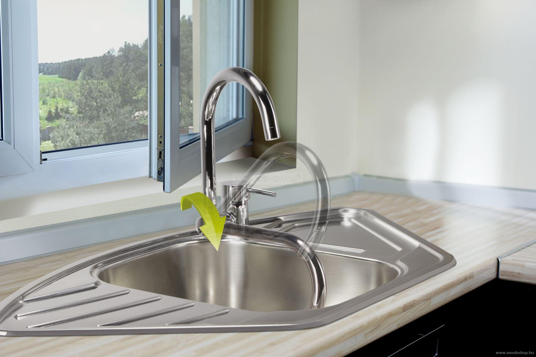 Deante - Aster eldönthető mosogató csaptelep