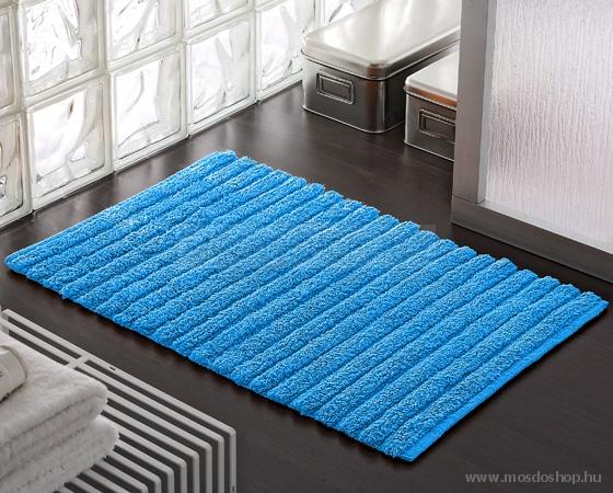 Gedy - Bombay kék színű fürdőszoba szőnyeg 80x50 (kádkilépő ...