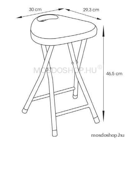 GEDY CO75 Fürdőszobai szék Fukszia színű műanyag ülőrésszel, acél lábakkal