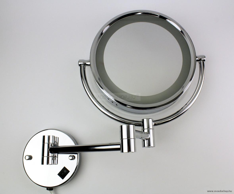 Diplon - Falra szerelhető világítós kozmetikai tükör - Fürdőszoba ...