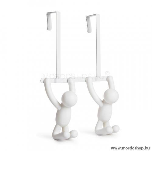 UMBRA - BUDDY - Ajtóra függeszthető akasztó - Dupla - Fehér műanyag 1c20d79f22