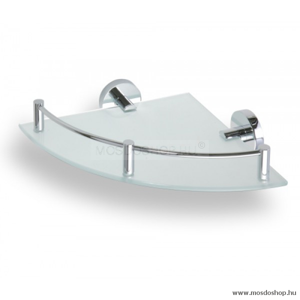 Bemeta - Omega falra szerelhető sarokpolc 250x250 mm - Fürdőszoba kiegészítő, felszerelés ...